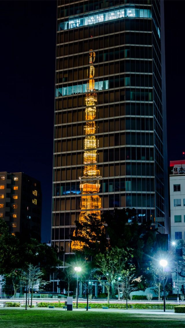tokyo tower wallpaper 壁紙, Iphone壁紙
