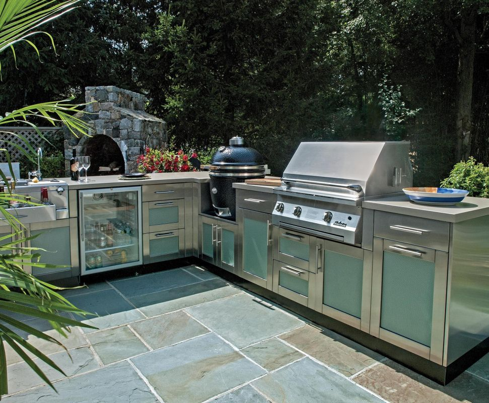 seafoam_panel_kitchenjpg Outdoor Kitchen Ideas Pinterest Galerien