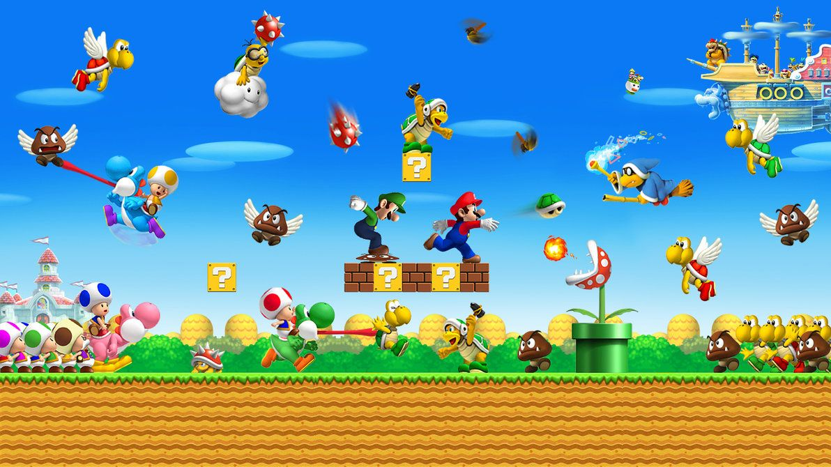 Super Mario Bros World By Lwiis64 Mario Y Luigi Super Mario