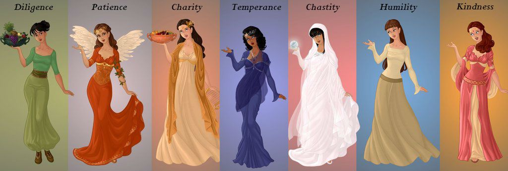 The 7 Heavenly Virtues Sins