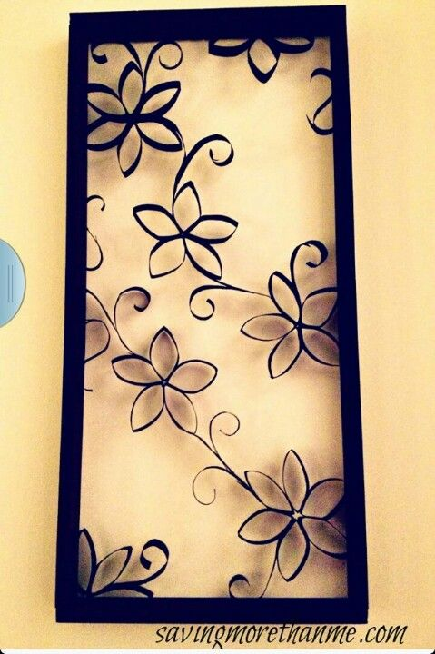 DIY Wall Decor made from… (You\'ll Never Guess!) | Toilet paper rolls ...