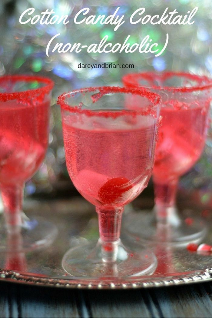 Non-Alcoholic Cotton Candy Cocktail Drink #nonalcoholicbeverages