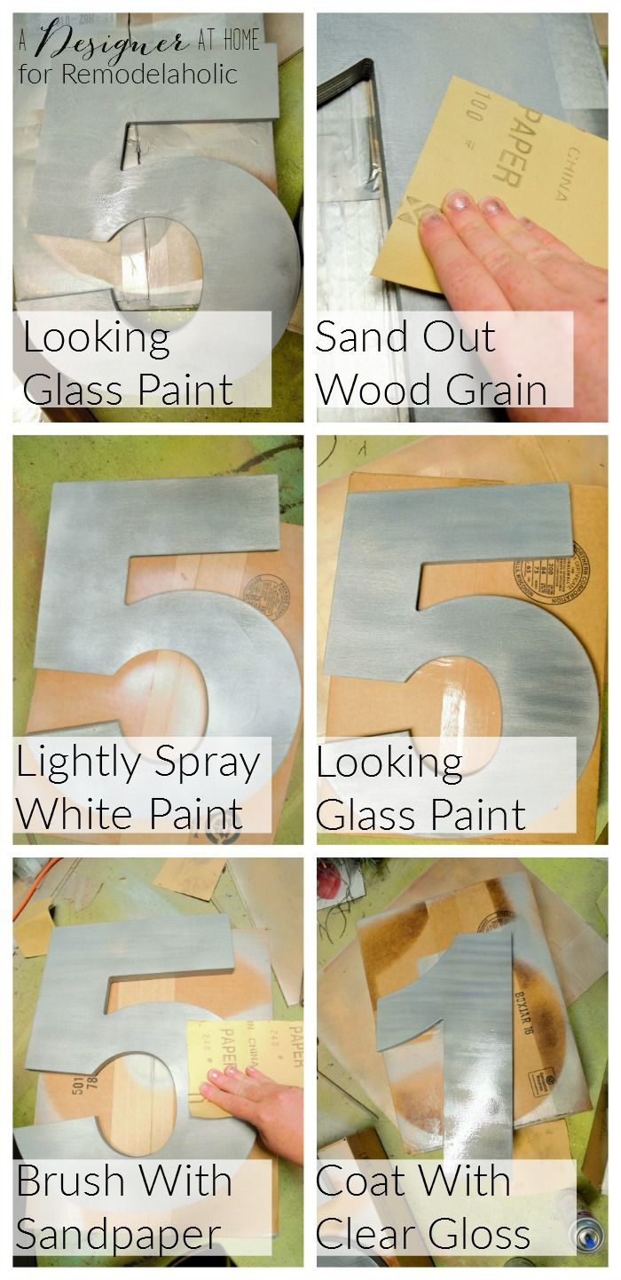 Faux Brushed Nickel Modern House Numbers Modern houses House
