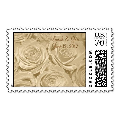 Champagne Roses Wedding Postage by Sand Creek Ventures