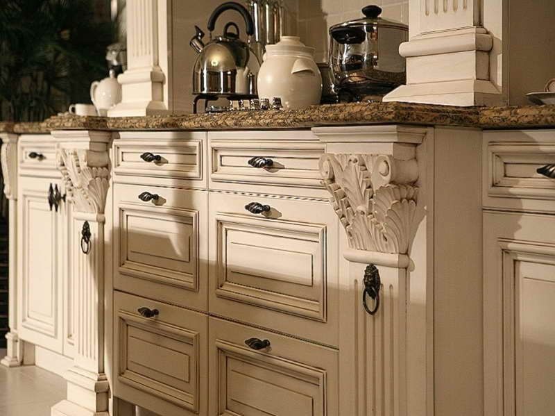 Rustic White Kitchen Ideas antique white distressed cabinets | roselawnlutheran