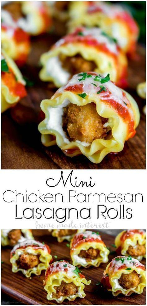 Photo of Mini Chicken Parmesan Lasagne Rolls