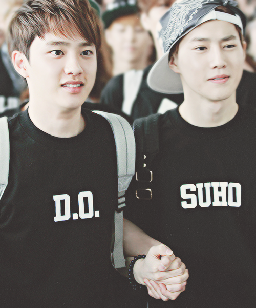 D.O & Suho Is it just me, or does D.O. look like a little kid excited to go back to school? xD