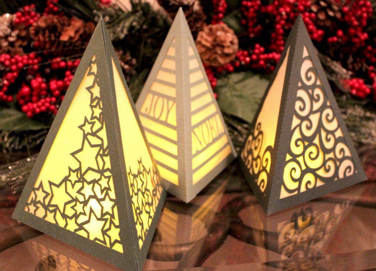 Tree Luminaries Project Pattern Pazzles Craft Room Paper Lanterns Diy Paper Lanterns Merry Christmas Diy