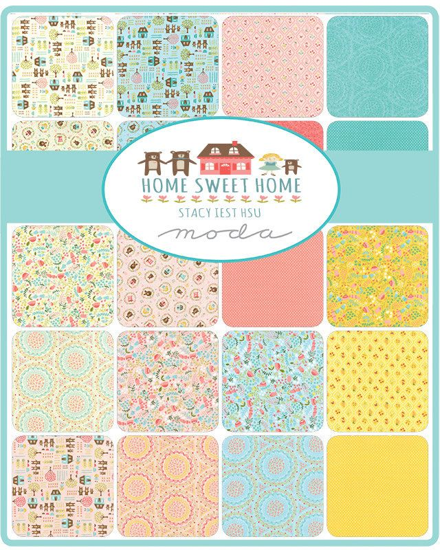 Quilting Fabric Charm Pack HOME SWEET HOME Patchwork 5 Inch Squares New