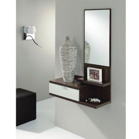 dahlia meuble d 39 entr e coloris weng blanc cuisine maison meuble d 39 entr e. Black Bedroom Furniture Sets. Home Design Ideas