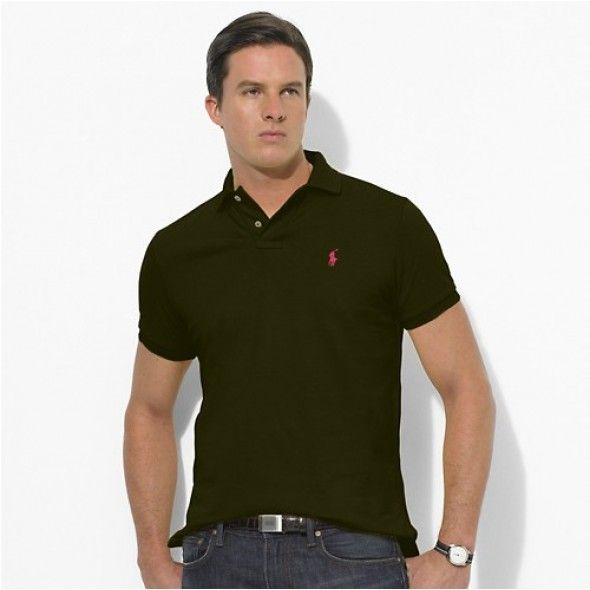 Polo Ralph Lauren Men's Darkgreen red Mesh Shirts  http://www.ralph-laurenoutlet.com/