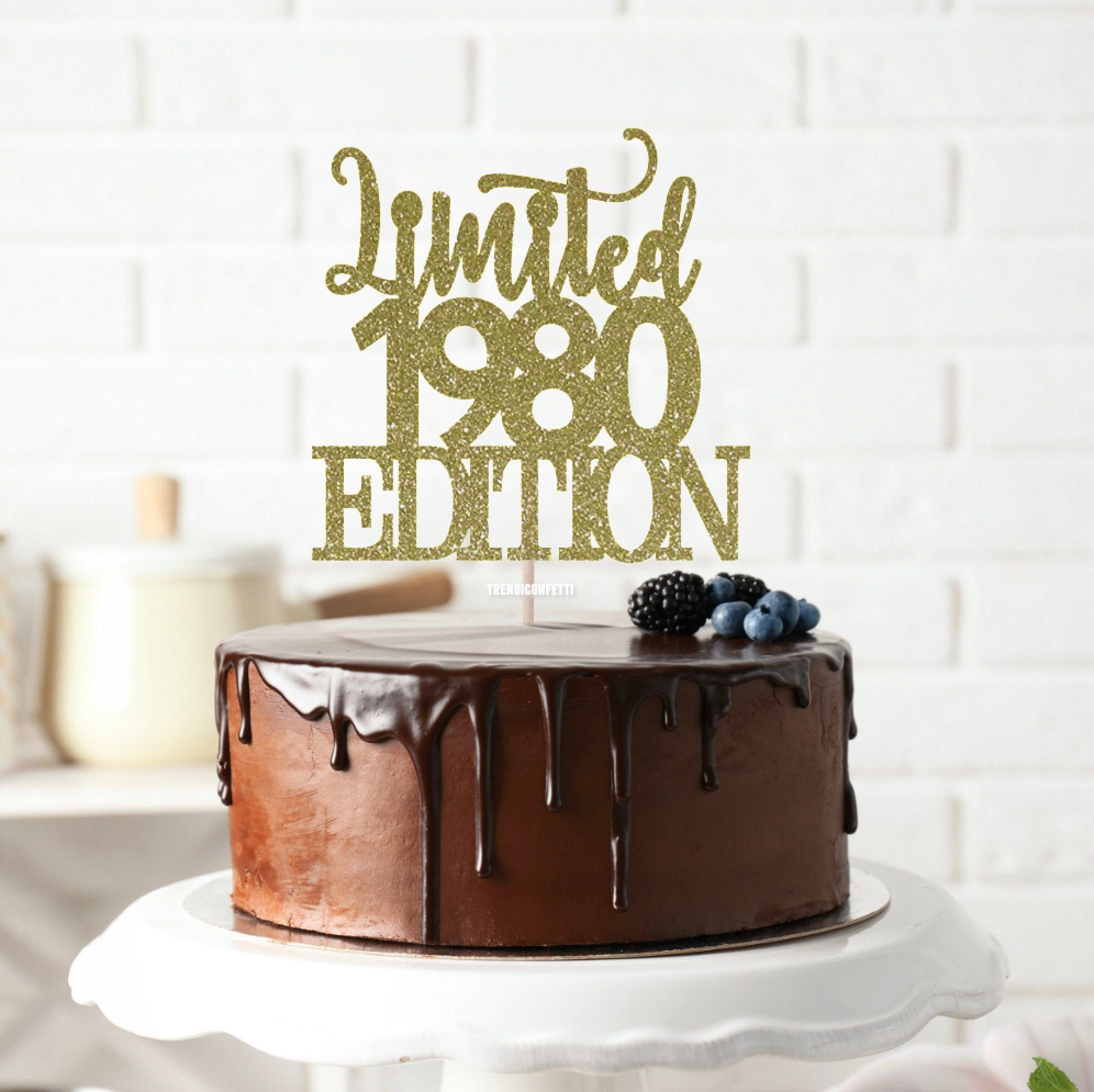 Limited 1980 Edition Cake Topper 40 Years Loved Cake Topper 40th