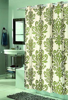 Royal Bath Easy On Fabric Shower Curtain W Built In Hooks Beacon