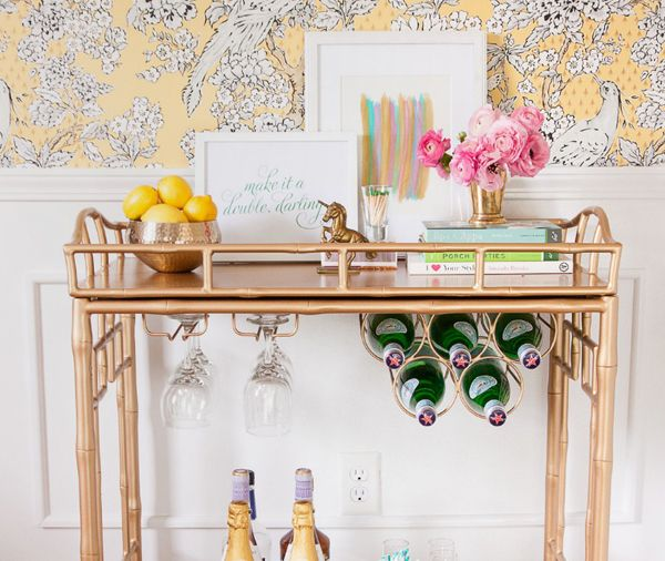 12 stylish bar carts with amazing design - How To Style A Bar Cart
