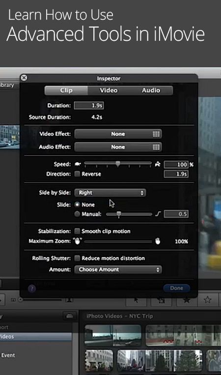 How To Use Advanced Tools In IMovie