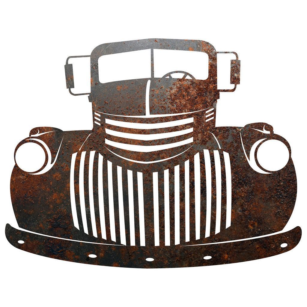 Rustic Metal Wall Hangings Beauteous Rustic Rusty Metal Old Truck Sign Plaque Wall Decor Country Decorating Design