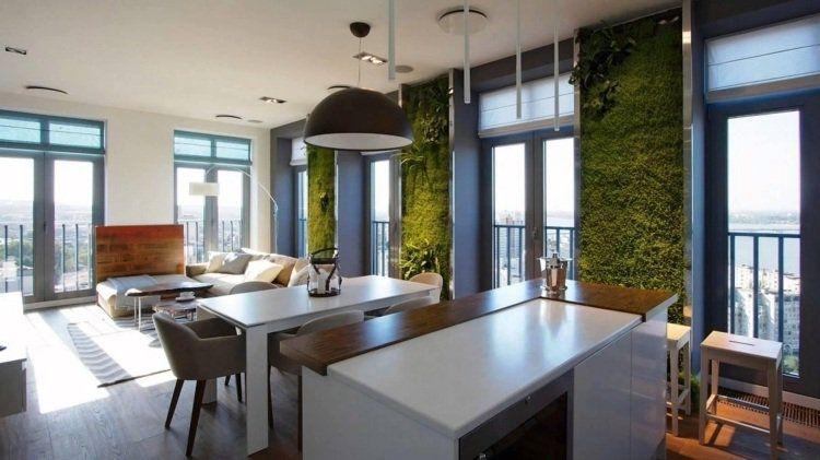 Mur végétal intérieur en 80 idées pour la maison écologique moderne - idee deco maison moderne