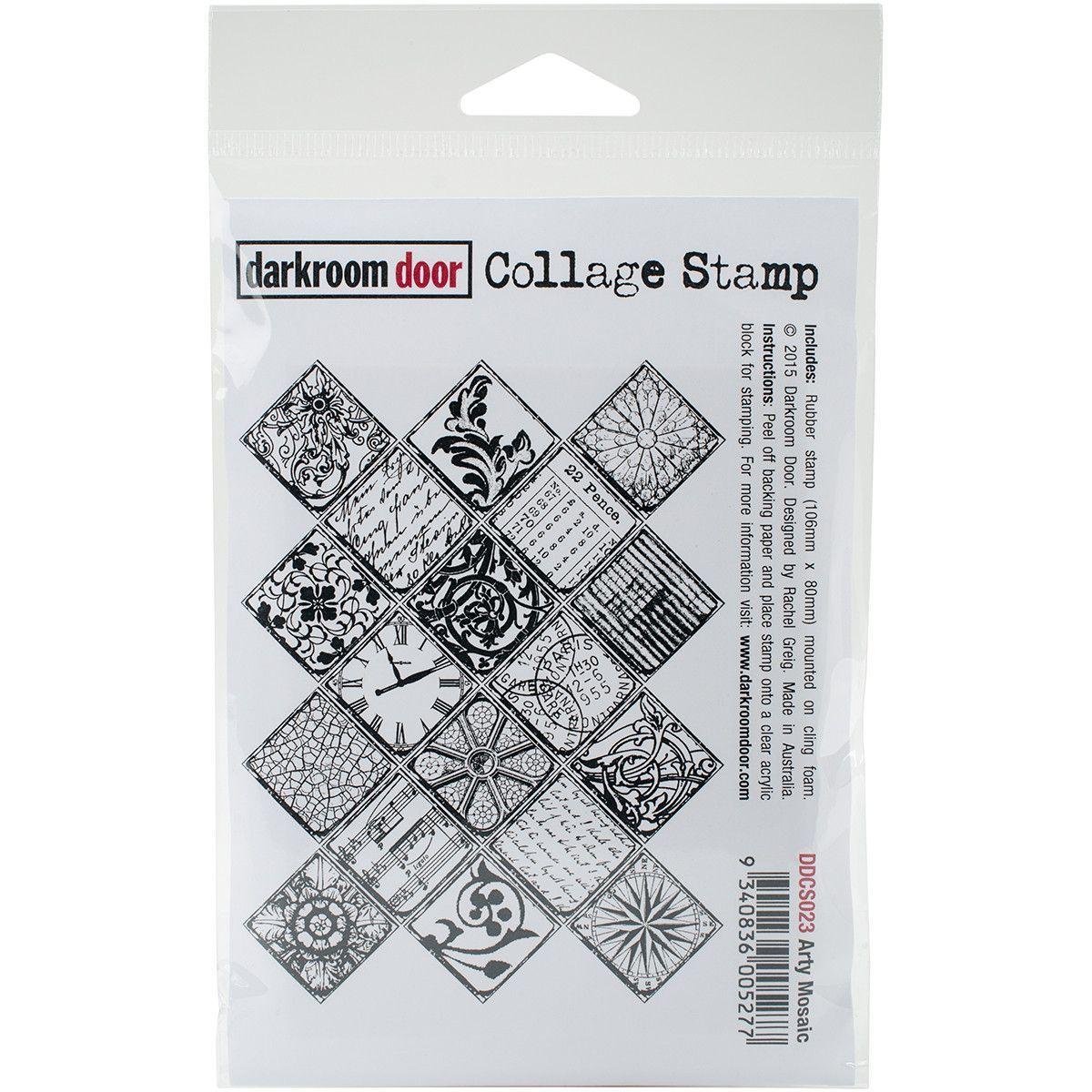 """Darkroom Door Cling Stamp 4.5""""x3"""" - Arty Mosaic"""