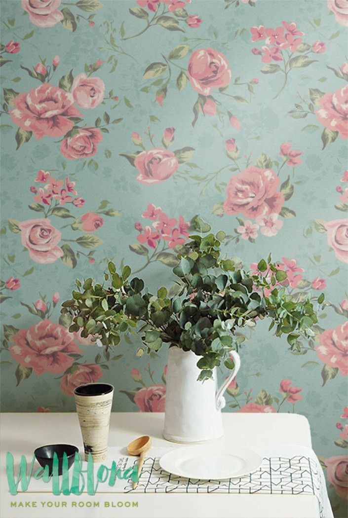 Garden rose wallpaper wallpaper pinterest temporary for Rose adesive