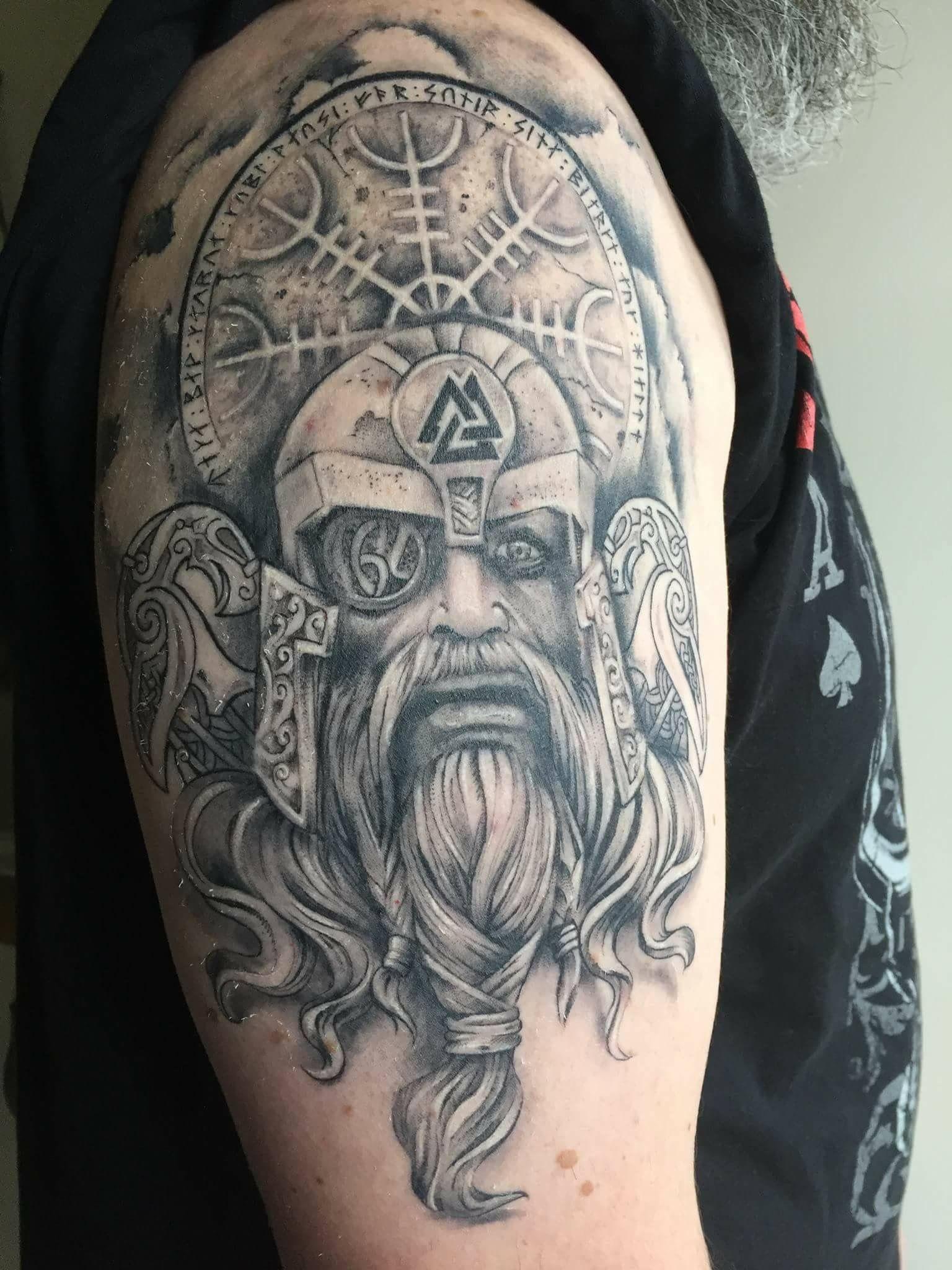 TATTOO ART Norseman design Viking tattoos