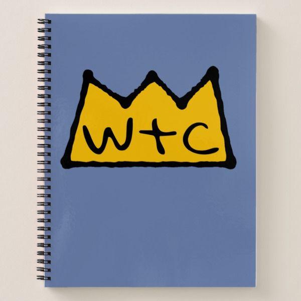 Crown Logo Notebook Custom Office Supplies #business #logo