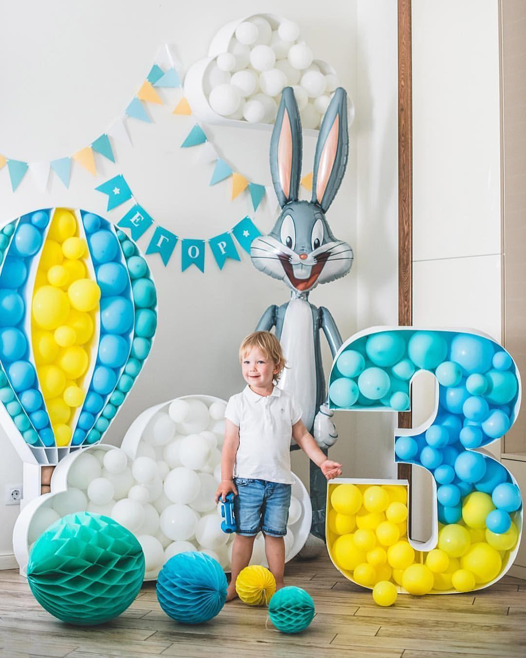 Ideas Para Decorar Un Cumpleaños Con Números Party Balloons Kids Birthday Party Birthday Party Decorations