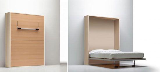 Camas plegables adosadas a la pared moda y hogar camas - Camas empotradas en armario ...