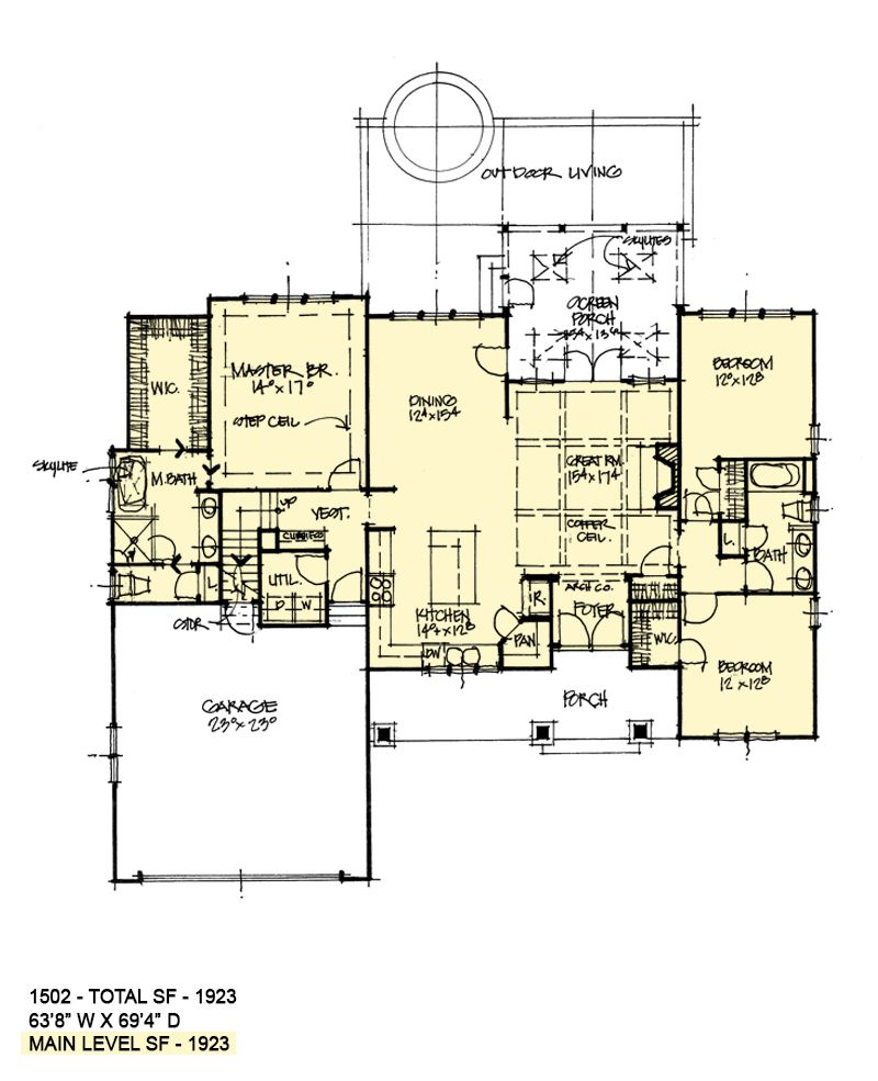House Plan 1502 Thoughtful One Story House Plans One Story Dream House Plans House Plans Farmhouse