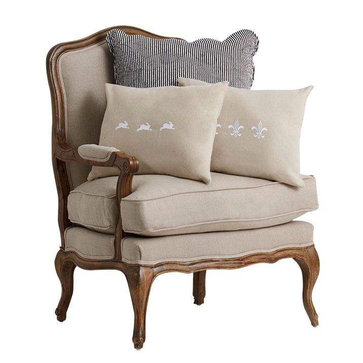 French Linen Armchair (With images) | French linen ...