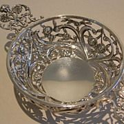 Stunning Antique Sterling Silver Reticulated Basket - William Comyns