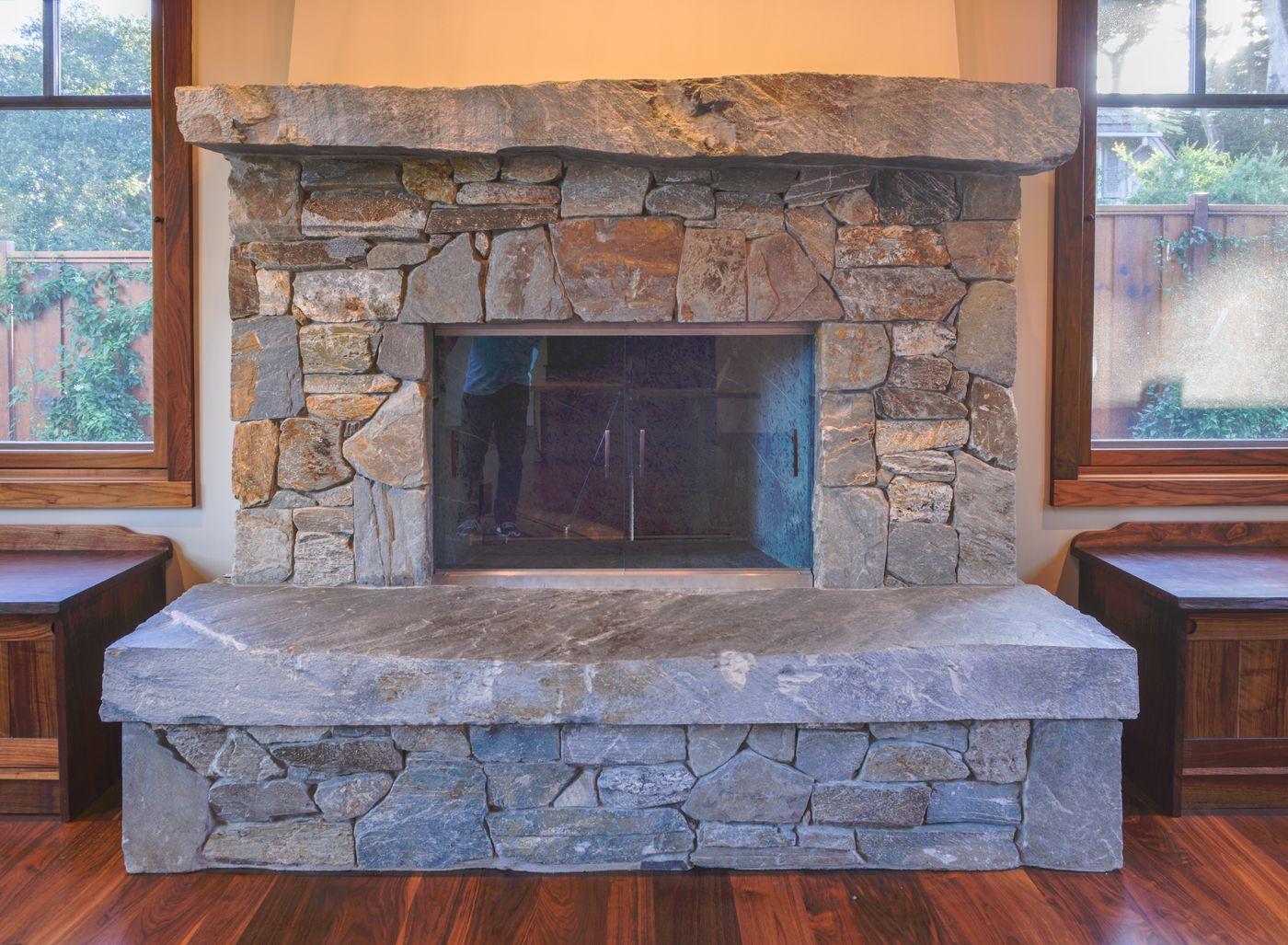 blueschist fireplace solid slab 20