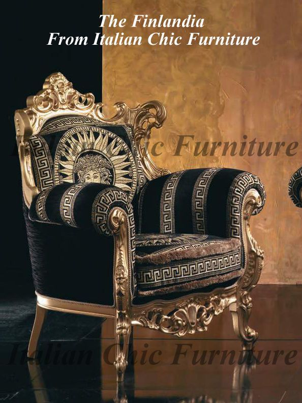 Details About Finlandia Italian Armchair Versace Design