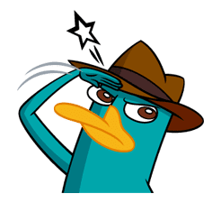 Perry Agent P Sticker 12959 Phineas And Ferb Perry The Platypus Perry