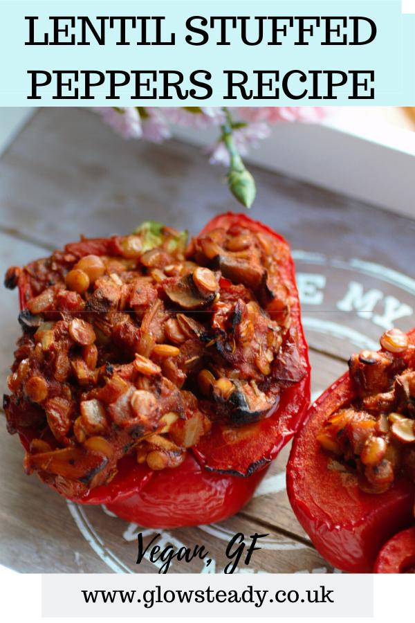 Lentil Stuffed Peppers Recipe Vegan Gf Plant Sourced Glow Steady Recipe In 2020 Peppers Recipes Stuffed Peppers Recipes