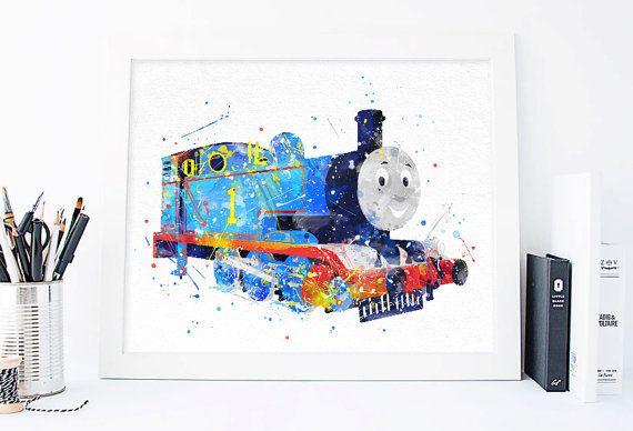 thomas the train printables, thomas the tank engine, thomas and friends,  tomas poster, nursery tomas print, nursery wall art, nursery poster