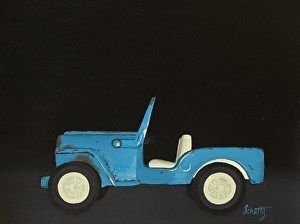 """Treasured Toy by Kari Schutty Oil ~ 8"""" x 10"""" Private Collection"""
