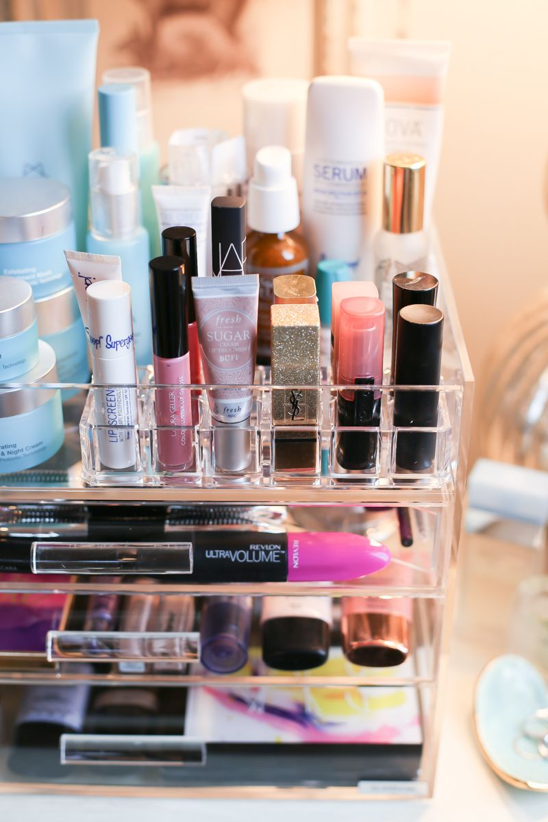 How to Organize Your Makeup + Skincare - The Southern Style Guide & How to Organize Your Makeup + Skincare | Makeup storage Organizing ...
