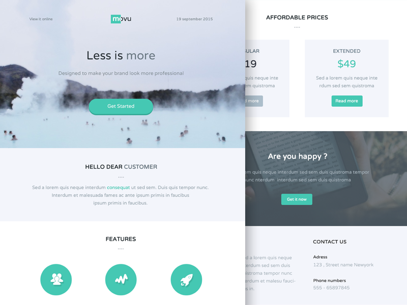 Movu  Newsletter  Email Template  Template And Ui Design