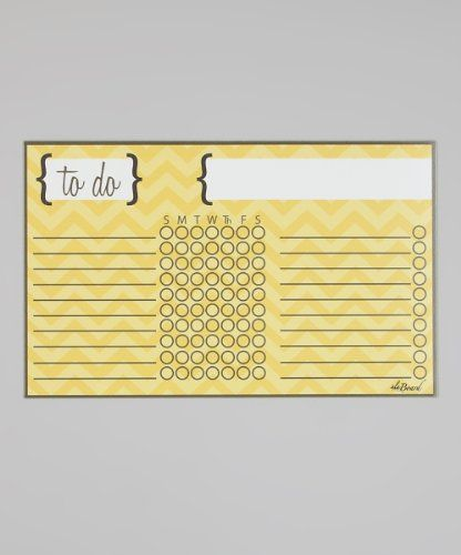 Ala Board Chore Chart - Yellow Chevro... $17.99 #topseller