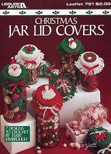 Christmas Jar Lid Covers Festive Motifs Crochet Patterns Oop Christmas Jars Christmas Crochet Patterns Christmas Mason Jars