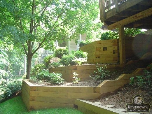 Treated wood retaining wall design 6x6 pressure treated retaining wall bing images for Pressure treated wood for garden