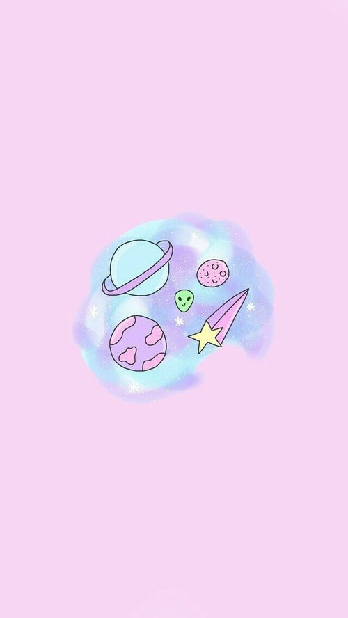 Wallpaper Pink And Space Image Alien Iphone Cute Tumblr
