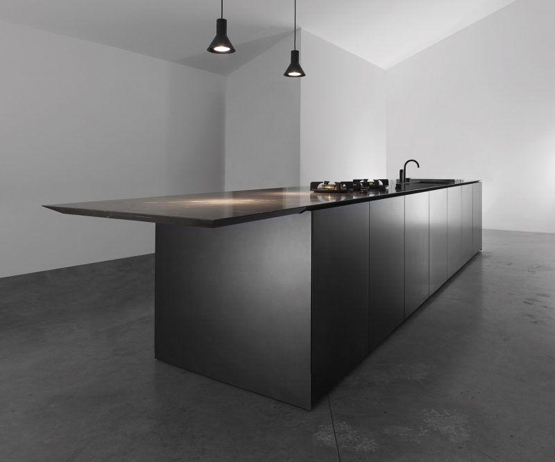 M5 Minimal Cucine Ristrutturazione Piccola Cucina Cucina Nera Progetti Di Cucine