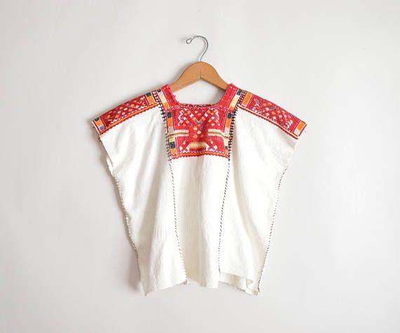 Child\'s Guatemalan Huipil, 70s Woven Shirt, Girls Poncho, Mexican ...
