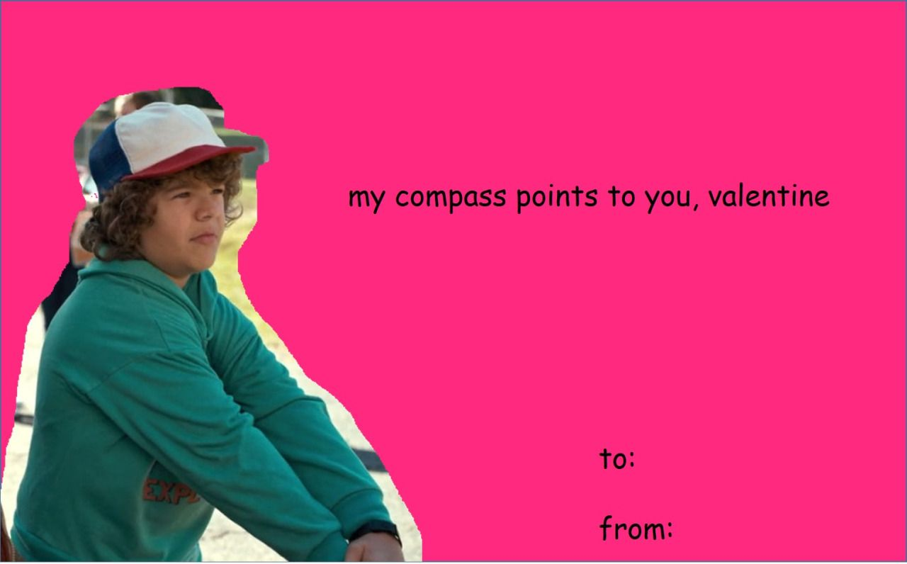 Stranger Things Valentines Dustin Henderson Valentines In 2018