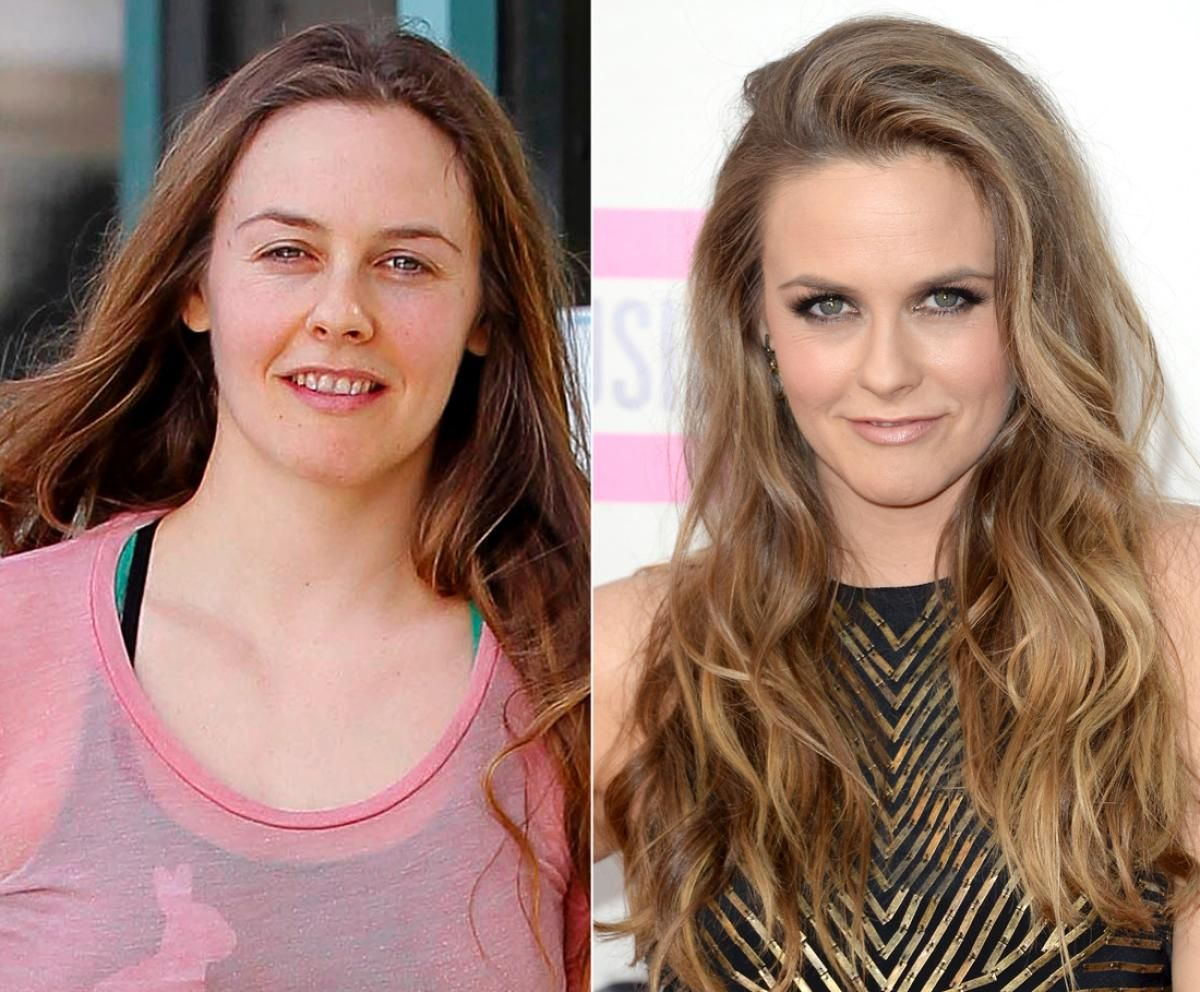 alicia silverstone - photos - stars caught without makeup