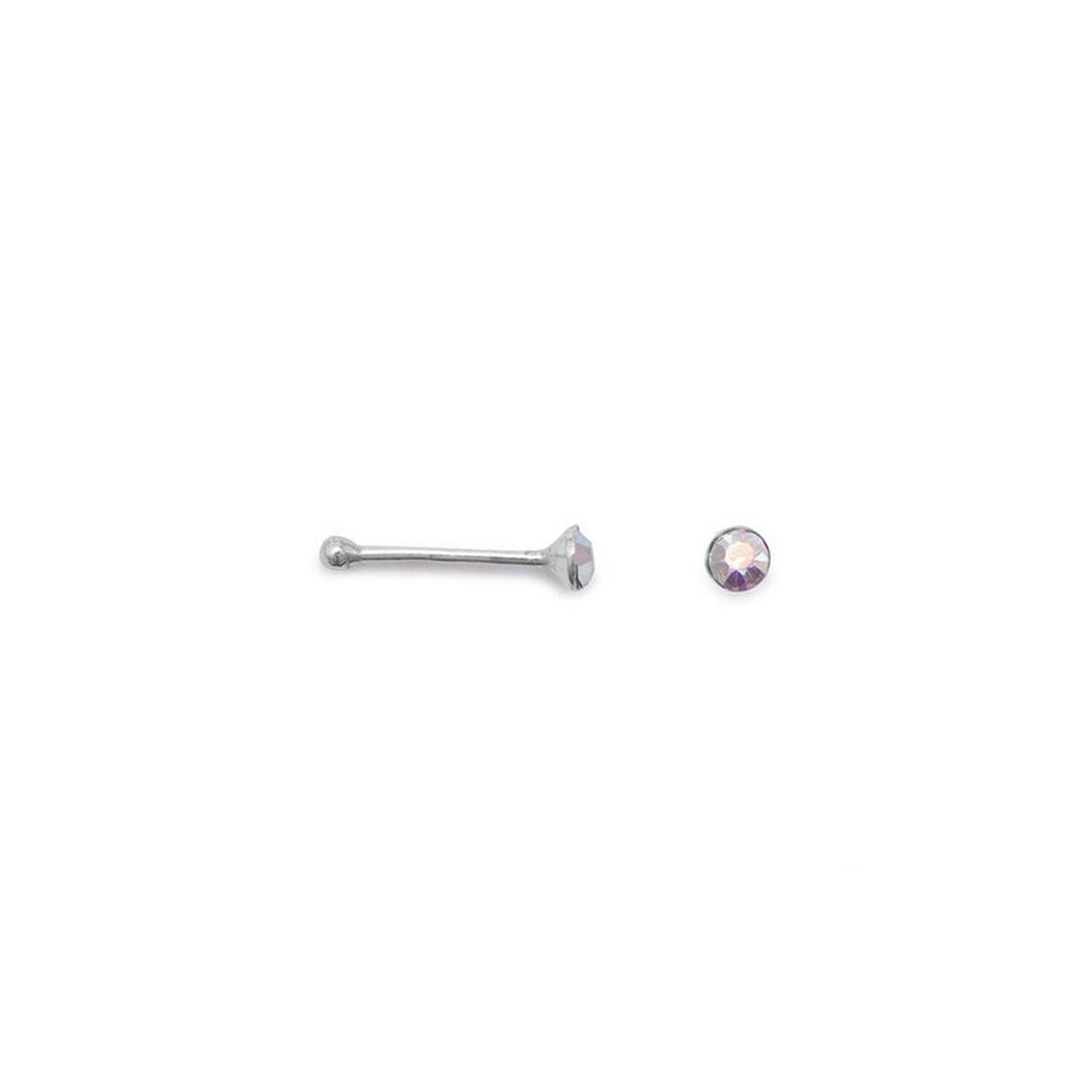 Nose piercing bump types  Clear Crystal Nose Studs  Products  Pinterest  Products