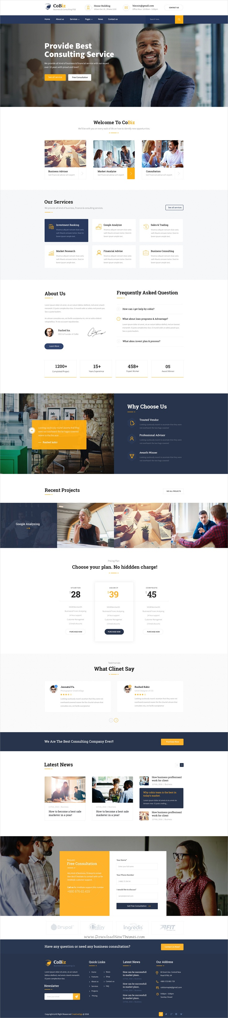 Cobiz business consulting psd template psd templates and business cobiz business consulting psd template cheaphphosting Choice Image