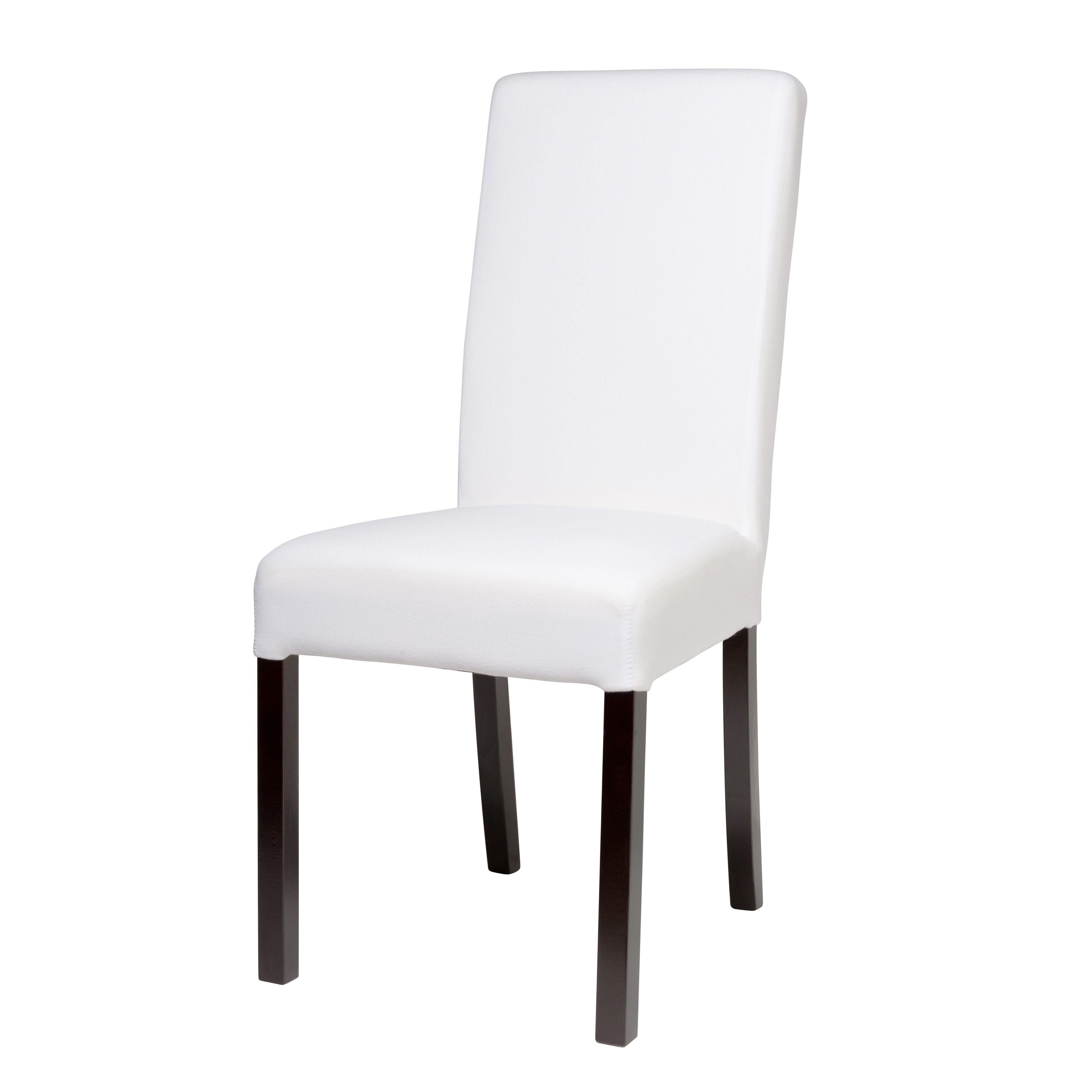 Chaise en tissu et bois blanche Margaux | Mobilier | Pinterest