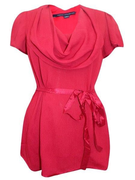 7df4d9748 Ladies' Red Cowl Neck Top with Detachable Ribbon Belt #christmasdress  #instagram #holidayoutfit #kidsclothes #christmasoutfits #holidaydress ...